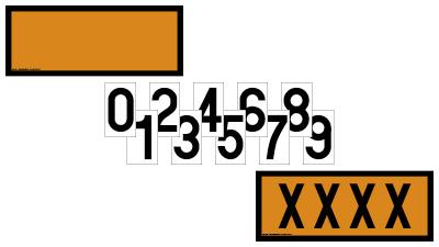 Panneaux orange 300x120mm