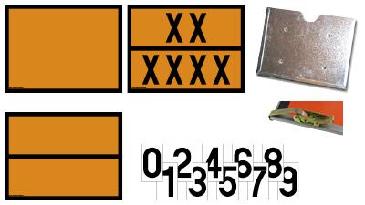 Panneaux orange 400x300mm