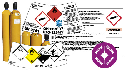 Étiquette pour bouteille de gaz