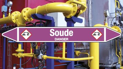 Étiquette pour réseau de gaz et marquage tuyauteries